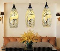 Wholesale Bohemian Lamps - nimi185 Fashion Bohemian Chandelier Droplight Pendant Lighting Mediterranean Garden Bar Table Lamp Light For Foyer Entrance Hallway