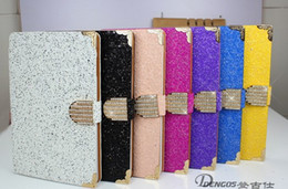 Wholesale Diamond Smart Wallets - For Ipad Air 5 5th luxury diamond shinning leather case Wallet pouch stand cover 1pcs lot free shipping