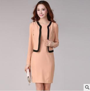 2019 2014 Fashion Women Dress Suit Formal Office Wear For Woman Long
