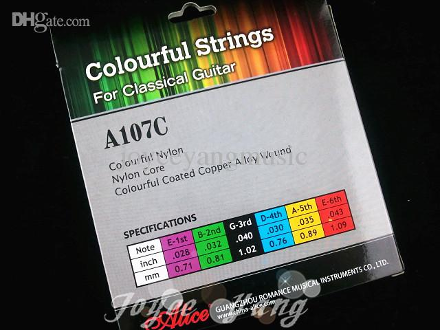 Alice Colourful Clear Nylon Strings Classical Guitar Strings 1st-6th Strings Wholesales