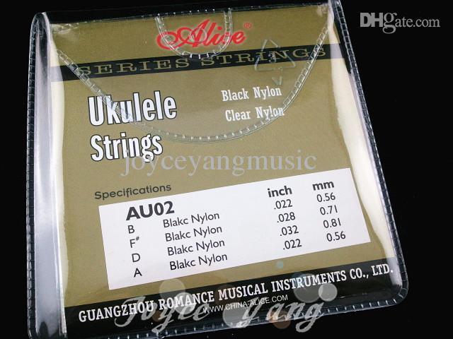 Alice AU02 Siyah Naylon Strings Ukulele Strings 1-4 Strings Ücretsiz Kargo Toptan Satış