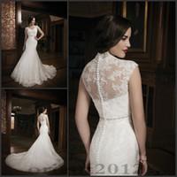 buy muslim high neck wedding dress - Hot sales Wedding Dresses Bridal Gowns Floor Length Dresses Lace Wedding Gowns mermaid style wedding gowns Custom Made
