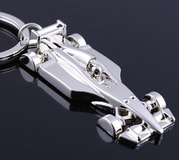 Wholesale Prix Steels - 10pcs 1lot NEW Fashion Formula One Grand Prix style Stainless steel key chain Gold keychains best gift Free shipping