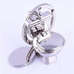 Deutschland 10pcs / 1lot NEUE Fashionflush Toilettenart Edelstahllegierungsstahlschlüsselkette keychains bestes Geschenk Freies Verschiffen GX-066 Versorgung