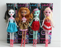 Wholesale Toy Seller Cartoon - With BOX and Accessory Monster High dolls, 10pcs lot, 2014 new styles, hot seller, girls plastic toys