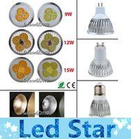 Wholesale Spotlight Socket - Cree Dimmable GU10 LED 9W 12W 15W Bulb Lights E27 E26 E14 MR16 Socket Lamp high power led spotlights Warm Pure Cool white 85-265V 12V