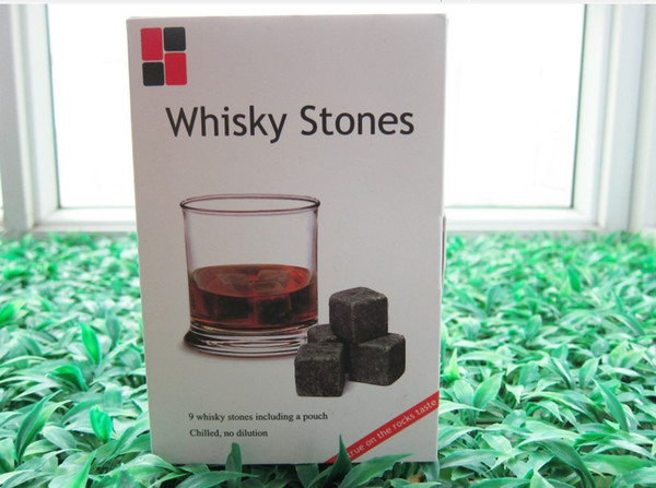 top popular 100% Natural! Wholesale Whiskey Stone Whiskey Rocks 9pcs Set in Gift Box (W) Christmas Valentine's Father's business gift 2021