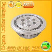 Wholesale Lamp G53 - AR111 Led G53 E27 GU10 14W 18W Led Spotlights ceiling lamp Dimmable QR111 ES111 warm cool white led bulbs 60 beam angle 110V 220V CE ROHS