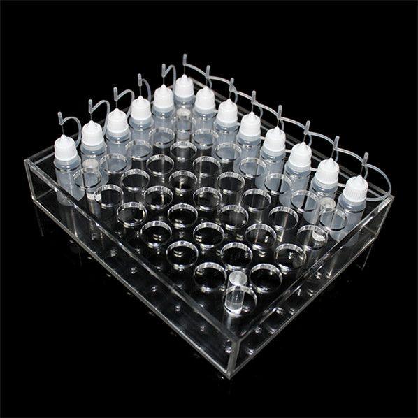 Acrylic e cig display showcase clear show shelf holder rack for ecig 10ml 20ml 30ml 50ml e liquid eliquid e juice bottle needle bottle DHL