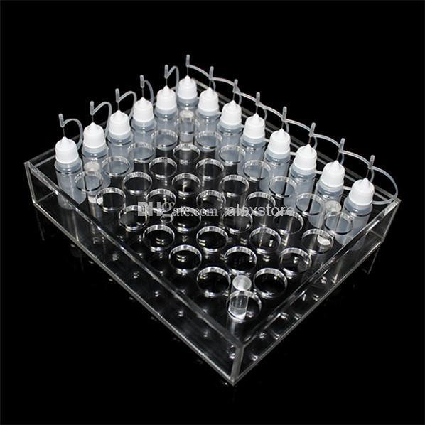 Acrylic e cig display showcase clear stand show shelf holder rack for 10ml 20ml 30ml 50ml e liquid eliquid e juice bottle needle bottle DHL