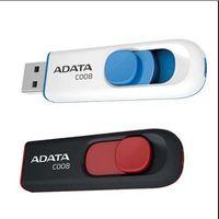 Wholesale Plastic Usb Memory 8gb - Quality 16GB 32GB 64GB ADATA C008 16GB 32GB 64GB ADATA C008 Superior Capless Sliding AC008 C008 Plastic Retractable USB Flash Memory Drive C