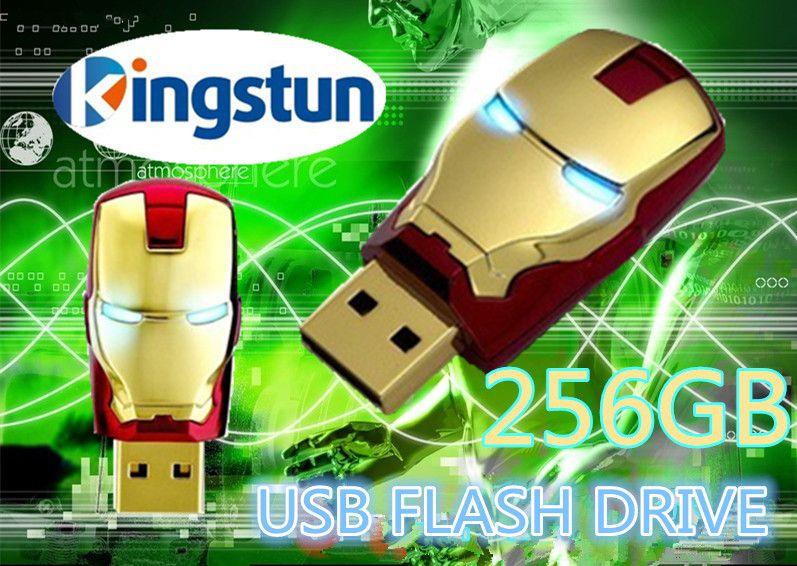 wholesale flawless avengers iron man led flash 256gb usb flash drive memory drive stick pen. Black Bedroom Furniture Sets. Home Design Ideas