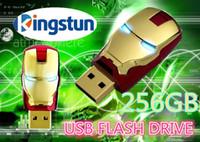 Wholesale Iron Men Pen Drive - Wholesale Flawless Avengers Iron Man LED Flash 256GB USB Flash drive Memory Drive Stick Pen ThumbCar usb disk11