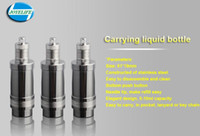 Wholesale E Cigarette Stainless Bottle - DHL FREE SHIPPING UCAN New Style E liquid Bottle Elegant Design Bottom Push Button Disassemble Stainless Needle Bottle E Cigarette