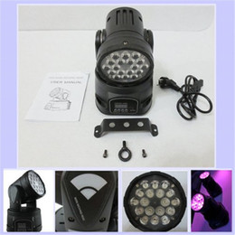 Wholesale Tri Color Led Lights - New Arrival LED Moving Head Wash Light RGB LEDs 12CH Led Stage Lighting 18*3W Tri-color (3in1) Led Headlamp Stage Light Moving Head Lights