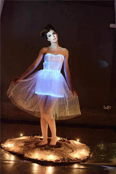 top popular top luxury fashion luminous womens cocktail dresses party dancewear light up dresses for party led dress creative new year gift 2019
