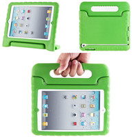 Wholesale Child Kid Ipad Case Cover - Children Kids Safe Soft EVA Light Foam Weight ShockProof Handle Cover Case With Stand For iPad Air 5 2 3 4 Mini Mini2 Retina