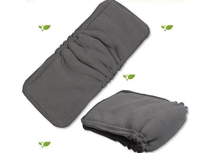 送料無料100個竹炭挿入ガセット3 + 2赤ちゃん布おむつパッドのおむつインサート