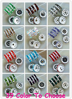 Wholesale Silver Color Beads Spacer - 1200pcs lot mixed 12 color each 100pcs 10mm crystal Spacer Rondelle Spacer Silver Plated Bead for bracelet hotsale DIY Findings Jewelry