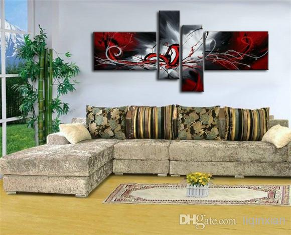 Best Wholesale High Quality Art Oil Painting Black Red White Abstract  Painting Gifts Modern Paintings On Canvas Living Room Painting Picture  Under $34.18 ... Part 27