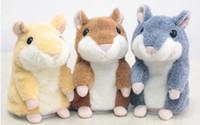 ratones de peluche al por mayor-Ruso Hablar Hamster Mascota Hablando Hamster Repetir Ratón Electrónico Interactivo de Peluche Juguetes de Peluche El Mejor Regalo de los Niños