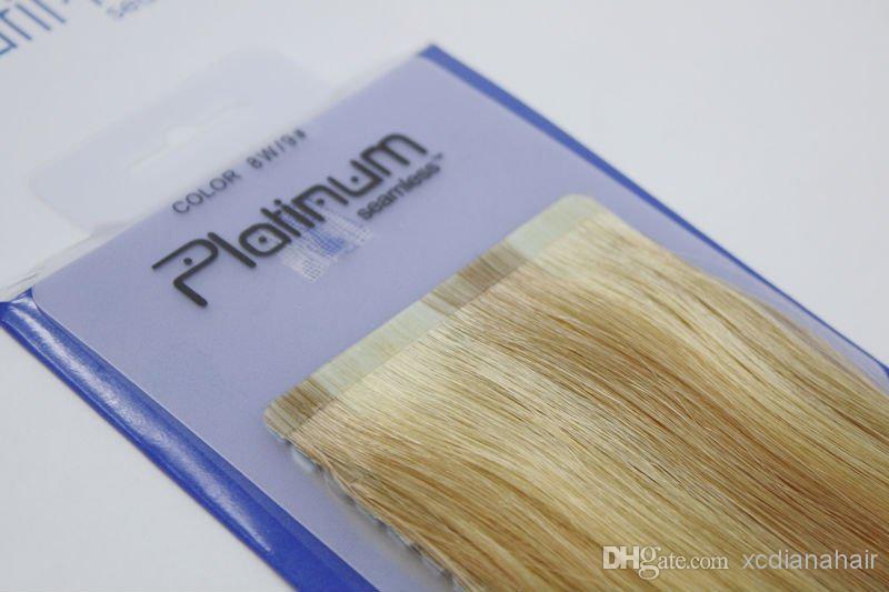 Best Quality Hair Eurasian Russian Blue Tape Hair Extensions