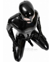 Wholesale Tight Sexy Latex - Sexy Black Full Body Sexy Bodysuit Leotard Black Latex Tights Latex Catsuit With Condom Full Body Latex Suit