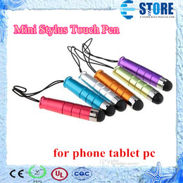 Wholesale Tablet Stylus Material - Mini Stylus Touch Pen with plastic material capacitive touch pen for phone tablet pc wu