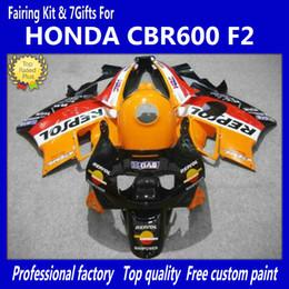 Red Honda F2 Canada - Red orange fairing kit For Honda CBR600 F2 91 92 93 94 CBR600F2 1991 1992 1993 1994 CBR 600 CBRF2 fairings kits body