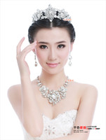 Wholesale 2016 New Cubic Zirconia Crystal Wedding Jewelry Sets African Jewelry Set Necklaces Earrings Fashion Jewelry