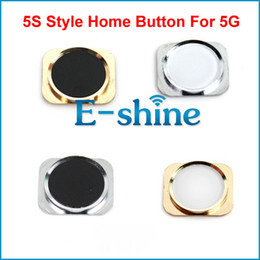 Wholesale Metal Home Button - For iPhone 5 5G Metal Home Button 5S Like Style Replacement Return Key Keypad Repair Parts