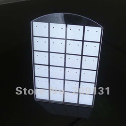 Wholesale Earing Stands - 2pcs 24 Pairs Clear Jewelry earing displays stand,+free shipping