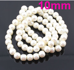Wholesale Glass Imitation Pearl Beads Wholesale - 10MM DIY Jewelry Loose Imitation Glass Pearl Beads Mix Colors Free shipping ZBE98