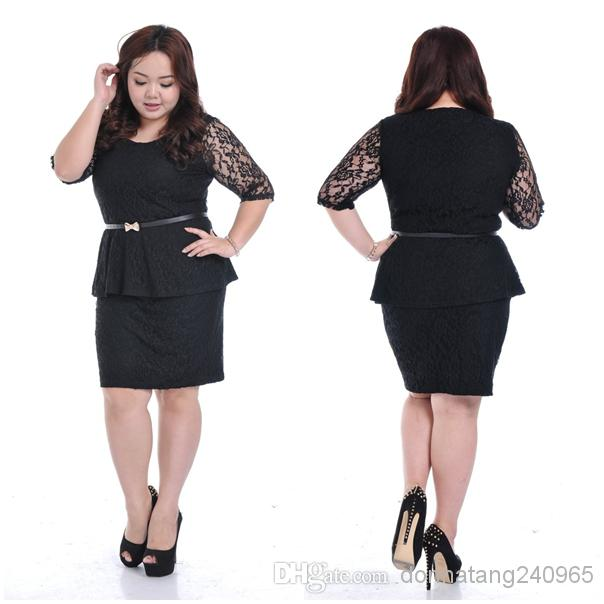 Latest Fat Women Dresses Plus Size Clothing Women Fashion Peplum Latest Dress Designs Fat Women