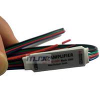 Wholesale Wholesale Tiny Led Lights - 100PCS New 12-24V 12A 144W Tiny RGB LED Signal Amplifier for 5050 3528 RGB LED Light Strip