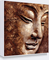 Wholesale Hand Painted Buddha - Hand-painted Famouns Religion Oil Painting on Canvas Buddha Art on Home Wall Decoration 1Panel Support Droppshipping