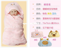 Wholesale Baby Sleeping Bags Pink Blue - High quality soft Coral infant sleeping bag, baby sleeping bag ,baby sleep sack,baby bath towel Drop shipping