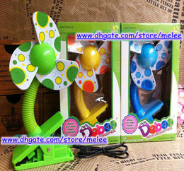 Wholesale Decor Clips - DHL Fedex EMS Ship New Baby Mini USB Span Infant stroller spans Deboo baby mini Clip fan with colorful boxes gift mixed 3colors melee