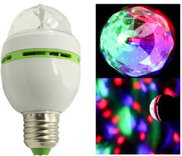 Wholesale Disco Lights Balls - Crystal Magic Ball Mini LED Laser Stage Light Effect Colorful Bulb For KTV Private Party Room DJ Disco Free Shipping
