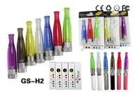 ingrosso pacchetti clearomizer ego ce4-Confezione individuale più popolare GS H2 Atomizzatore GS-H2 Clearomizer rimovibile No Wick Sostituisci CE4 Cartomizer per batteria EGO eGo T W VV 510