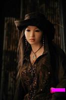 maniquíes de sexo de tamaño completo al por mayor-Silicone Sex Doll para hombres 158 cm Cuerpo completo japonés Tamaño real completo Silicona Sex Doll Realista Negro Piel Maniquí Adulto de tamaño natural
