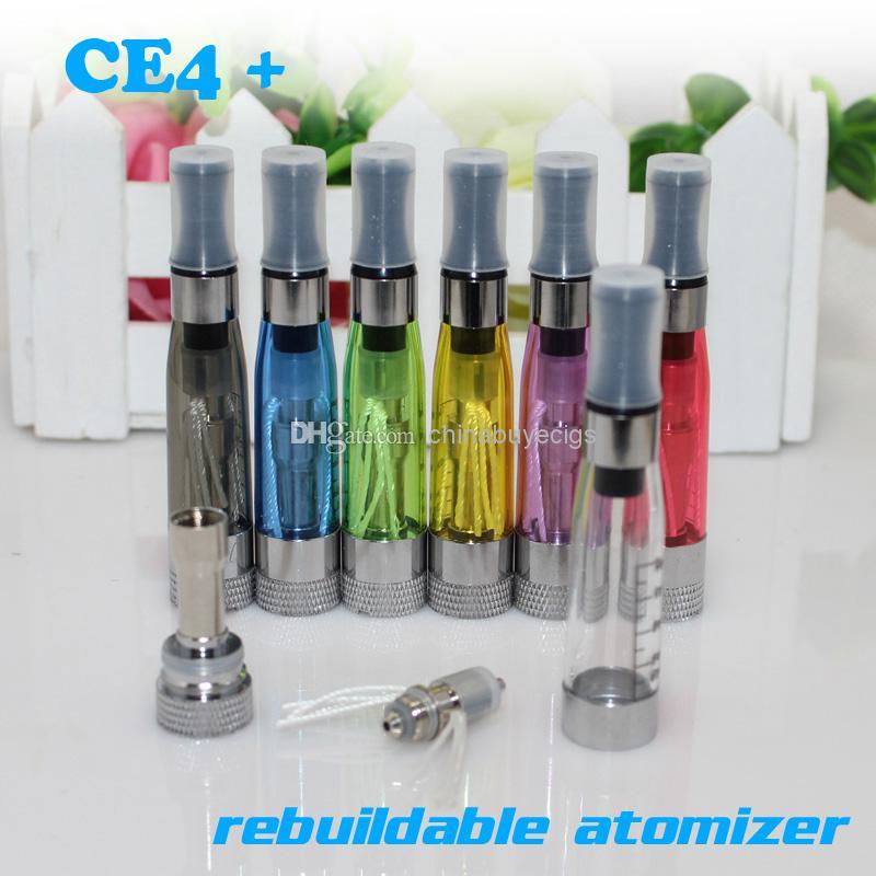 最高品質のCE4 + CE4S CREBULIDABLEアトマイザーClearomizer CE4 CE5門限機器CE4プラス再構築可能コイル電子タバコ蒸気EGOアトマイザー
