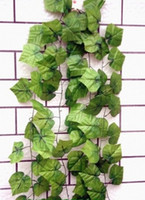 Wholesale Wholesale Greenery - Wholesale - - 20pcs 6.8feet Wired Ivy Garland Silk Artificial Vine Greenery For Wedding Home Office