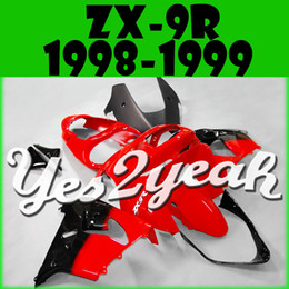 Wholesale Zx9r Black - In Stock Yes2yeah Injection Mold Fairings For Kawasaki ZX9R ZX 9R 1998 1999 98 99 Red Black K98y16 +5 Free Gifts