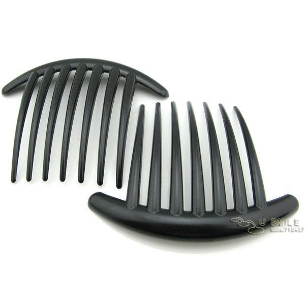 Clear Hard Plastic Black Hair Combs 106mmx85mm(7 teeths) FREE SHIPPING