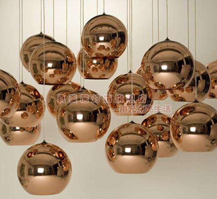 discount modern artistic tom dixon bronze copper shade gold silver glass pendant light mordern pendant lamp chandelier living room light bedroom hanging