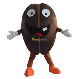 Wholesale Coffee Beans Customs - Fancytrader New Arrival Coffee Bean Mascot Costume Coffee Mascot Costume Coffee Bean Fancy Dress Costume Free Shipping FT19983