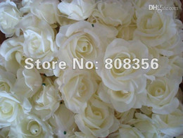 Wholesale Wholesale Silk Flowers Peony - Wholesale - Cream Ivory 100p Artificial Silk Camellia Rose Peony Flower Head 7--8cm
