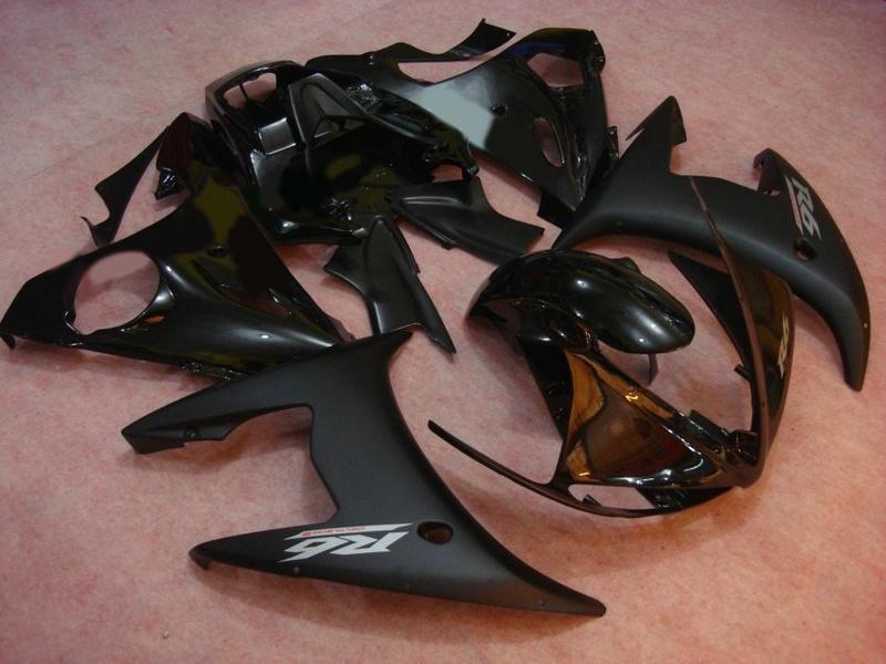 Verkleidungen für Yamaha YZF-R6 2003 2004 mattschwarz glänzend YZF R6 YZF 600 r6 03 04 05 2003 2004 Karosserieverkleidungen von hoher Qualität