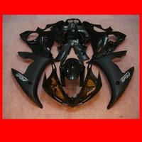 yamaha negro r6 al por mayor-Carenados para Yamaha YZF-R6 2003 2004 negro brillante mate YZF R6 YZF 600 r6 03 04 05 2003 2004 carenados de alta calidad